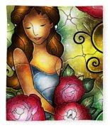 Camellia Lady Fleece Blanket