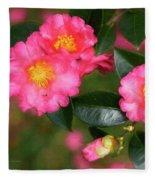 Camellia Pink Fleece Blanket
