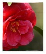 Camellia Rosette Fleece Blanket