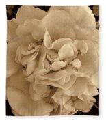 Camellia Sepia Fleece Blanket
