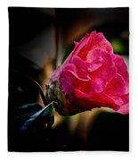 Camellia Silhouette  Fleece Blanket