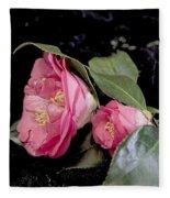 Camellia Still Life Fleece Blanket
