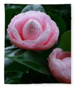 Camellias Fleece Blanket