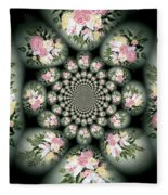 Cameo Bouquet Fleece Blanket