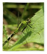 Cameo Green Dragonfly Fleece Blanket