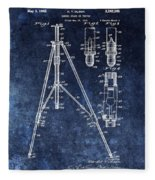 Camera Tripod Patent Fleece Blanket