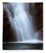 Cameron Falls In Waterton Lakes National Park Of Alberta Fleece Blanket