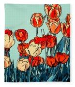 Camille's Tulips - Version 3 Fleece Blanket