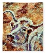Camouflage Cow Art Fleece Blanket