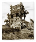 Camouflage Observation Tower Near Asilomar And The Point Pinos Lighthouse 1941 Fleece Blanket