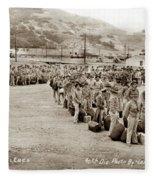 Camp San Luis Obispo Army Base 40th Division Photo 143rd Field Artillery 1941 Fleece Blanket