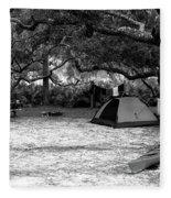 Camp Under Live Oaks Fleece Blanket