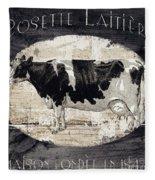 Campagne I French Cow Farm Fleece Blanket