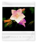 Campanula In Macro 3 Poster Fleece Blanket