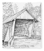 Campbell's Covered Bridge Fleece Blanket
