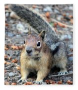 Campground Chipmunk Fleece Blanket