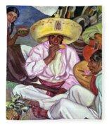 Camping Zapatistas, 1922 Fleece Blanket