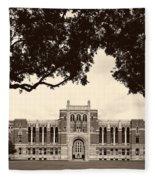 Campus Of Rice University Fleece Blanket