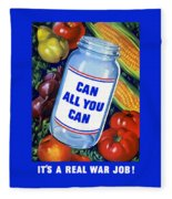 Can All You Can -- Ww2 Fleece Blanket