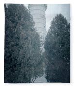 Cana Island Lighthouse Wisconsin Fleece Blanket