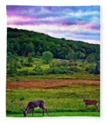 Canaan Valley Evening Impasto Fleece Blanket