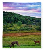 Canaan Valley Evening Fleece Blanket