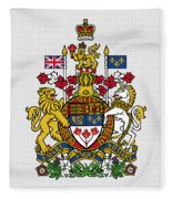 Canada Coat Of Arms Fleece Blanket