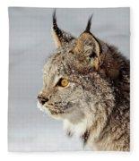Canada Lynx Up Close Fleece Blanket