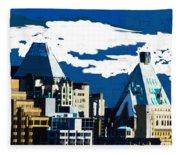 Canada Towers Fleece Blanket