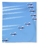 Canadian Air Force Snowbirds Fleece Blanket