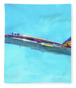 Canadian Armed Forces Cf-18 Hornet Fleece Blanket