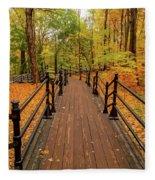 Canadian Autumnal Walkway Fleece Blanket