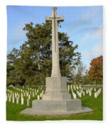 Canadian Cross Of Sacrifice Fleece Blanket