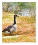 Canadian Geese 6 Fleece Blanket
