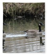 Canadian Geese Fleece Blanket
