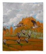 Canadian Geese Fleece Blanket
