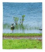Canadian Geese - Wichita Mountains - Oklahoma Fleece Blanket