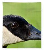 Canadian Goose Portrait Fleece Blanket