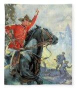 Canadian Mounties Fleece Blanket