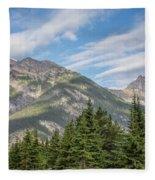 Canadian Rockies Near Kicking Horse Pass Fleece Blanket