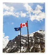 Canadian Rockies - Digital Painting Fleece Blanket
