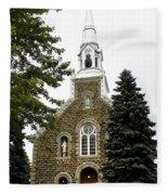 Canadian Rural Church Fleece Blanket