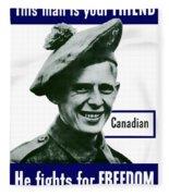 Canadian This Man Is Your Friend Fleece Blanket