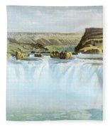 Canadian Water Fall Fleece Blanket