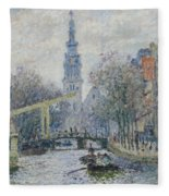 Canal Amsterdam Fleece Blanket