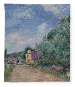 Canal Du Loing-chemin De Halage Fleece Blanket
