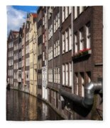 Canal Houses Fleece Blanket