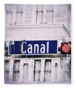 Canal Street In The Big Easy Fleece Blanket