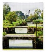 Canals And Bridges Fleece Blanket