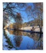 Canalside Winter Wonderland Fleece Blanket
